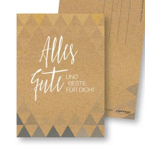 Geometrische Geburtstagskarte Postkarte Frau Schnobel Grafik Hochkantkarten
