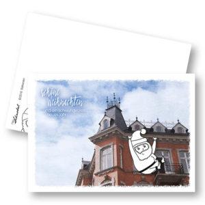 Balkonien Weihnachtskarte Postkarte Frau Schnobel Grafik Hochkantkarten
