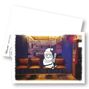 Fotobox Weihnachtskarte Postkarte Frau Schnobel Grafik Hochkantkarten