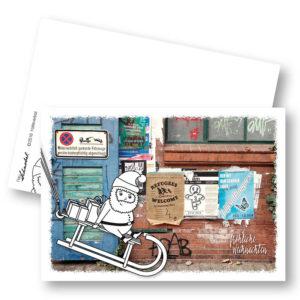 Halteverbot Weihnachtskarte Postkarte Frau Schnobel Grafik Hochkantkarten