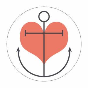Herz Anker Button Magnet Bilder Frau Schnobel Grafik
