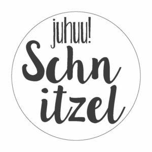 Schnitzel Button Magnet Bilder Frau Schnobel Grafik