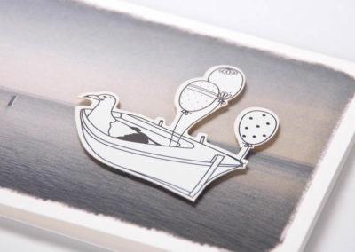 Weite See Geburtstag maritime Klappkarte Grusskarte Frau Schnobel Grafik Detail