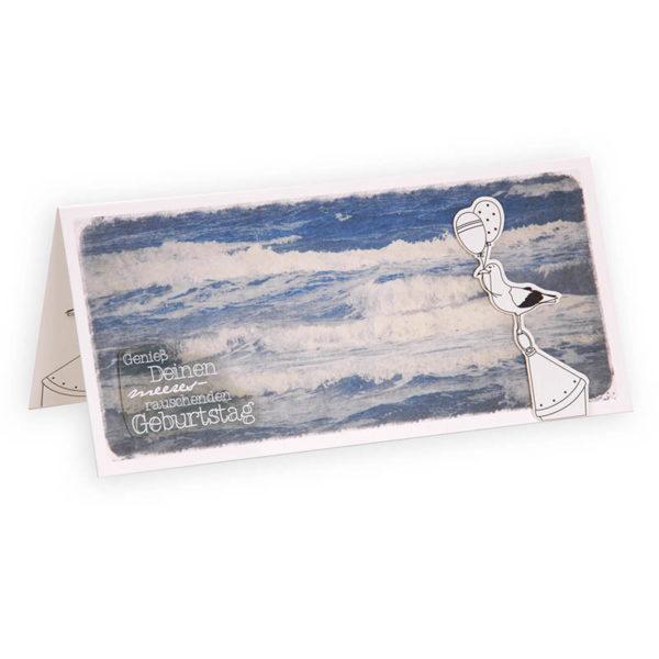 Wellengang Geburtstag maritime Klappkarte Grusskarte Frau Schnobel Grafik Titel