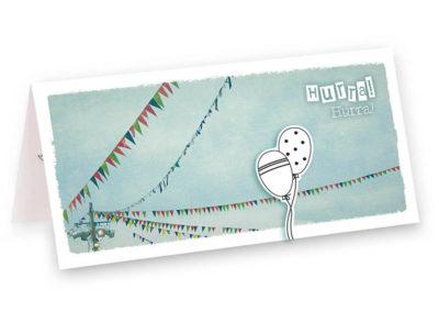 Wimpelfusion Taufe Geburt Geburtstag Hochzeit Wimpel Klappkarte Grusskarte Frau Schnobel Grafik Titel