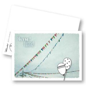 Wimpelfusion Taufe Geburt Geburtstag Hochzeit Wimpel Postkarte Frau Schnobel Grafik Titel