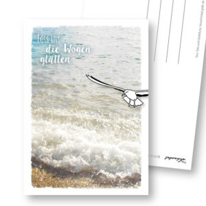 Wogen glätten maritime Postkarte Entschuldigung Frau Schnobel Grafik Hochkantkarten
