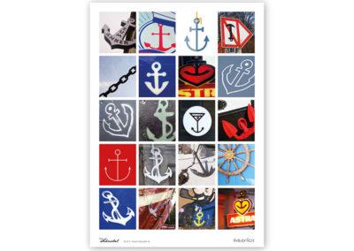 Ankerfest A4 Anker Poster Maritimes Poster Titel