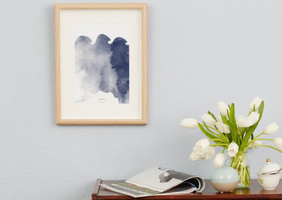 FOUR Elements Water Aquarell A4 vier Elemente Poster Water Wand Zoom