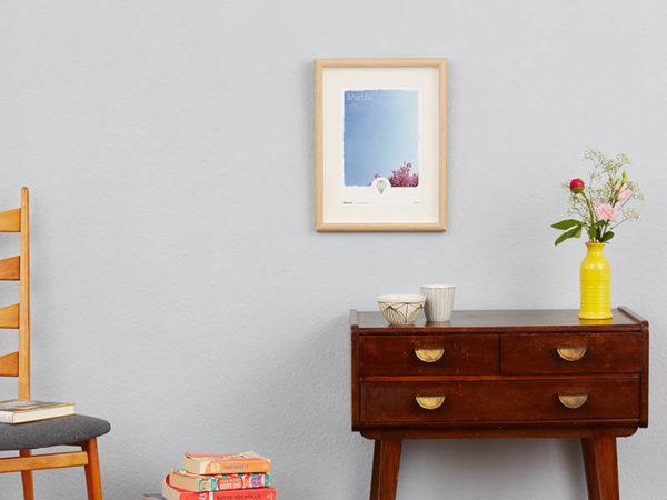 Poster Breathe Typoposter Durchatmen Polaroid Breathe A4 Wand klein