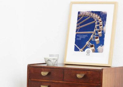 Riesenrad Poster Riesenrad Typoposter A3 Seite
