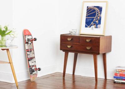 Riesenrad Poster Riesenrad Typoposter A3 Seite klein