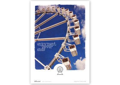 Riesenrad Poster Riesenrad Typoposter A3