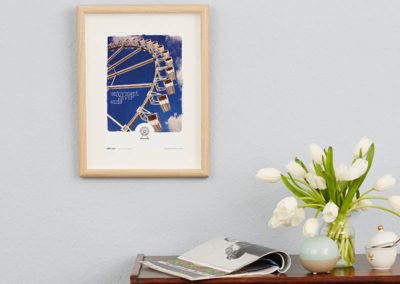 Riesenrad Poster Riesenrad Typoposter A4 Wand