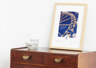 Riesenrad Poster Riesenrad Typoposter A4 Seite