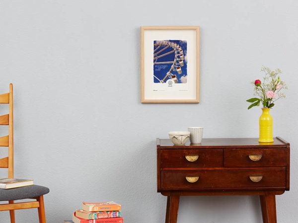 Riesenrad Poster Riesenrad Typoposter A4 Wand klein
