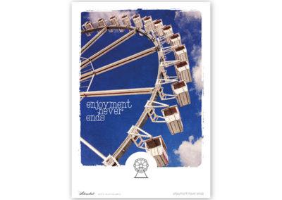 Riesenrad Poster Riesenrad Typoposter A4 Titel