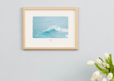 Wellen-Poster Surf maritimes Poster mit Welle hellblau Portugal A4 Wand