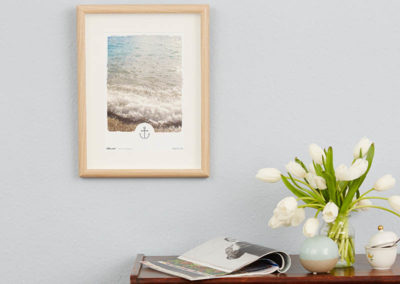 Poster Wellen Meer maritimes Poster Polaroid Typoposter A4 Wand