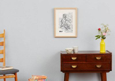 Rapü Design Hamburg Nord Stadtteilposter Stadtposter Stadtkarte A4 blaue Wand klein