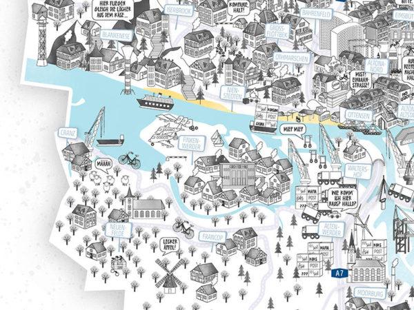 Finkenwerder Artprint Hamburg Hamburgposter Hamburg Poster 97x120cm Rapü Design