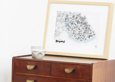 Rapü Design Hamburg Bergedorf Stadtteilposter Stadtposter Stadtkarte A4 Seite