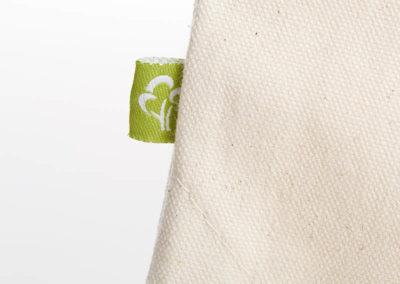Turnbeutel Gymsac witziger Turnbeutel Organic Cotton Gesund Gesunde Sachen Natur Schwarz Organic cotton Label