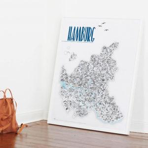 Artprint Hamburg Hamburgposter Hamburg Poster 97x120cm Rapü Design