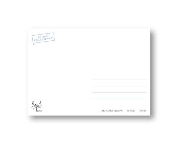Krakaoke Krake Karaoke Rapü Design Postkarte Hochkantkarten Rücken