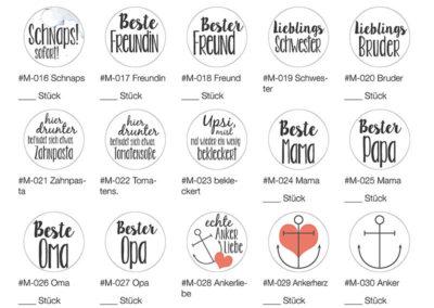 Magnetbutton Sparset Button Magnet Liste 2 Frau Schnobel Grafik