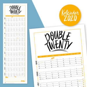 Rapue Design Frau Schnobel Grafik Wendekalender Double Twenty Jahresplaner Wandkalender 2020 Titel