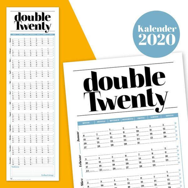 Rapue Design Frau Schnobel Grafik Wendekalender Double Twenty Jahresplaner Wandkalender 2020 Titel 2