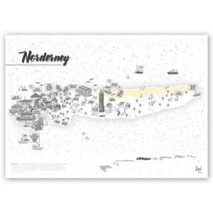 Rapü Design Norderney Stadtteilposter Stadtposter Stadtkarte Inselposter A3 Titel