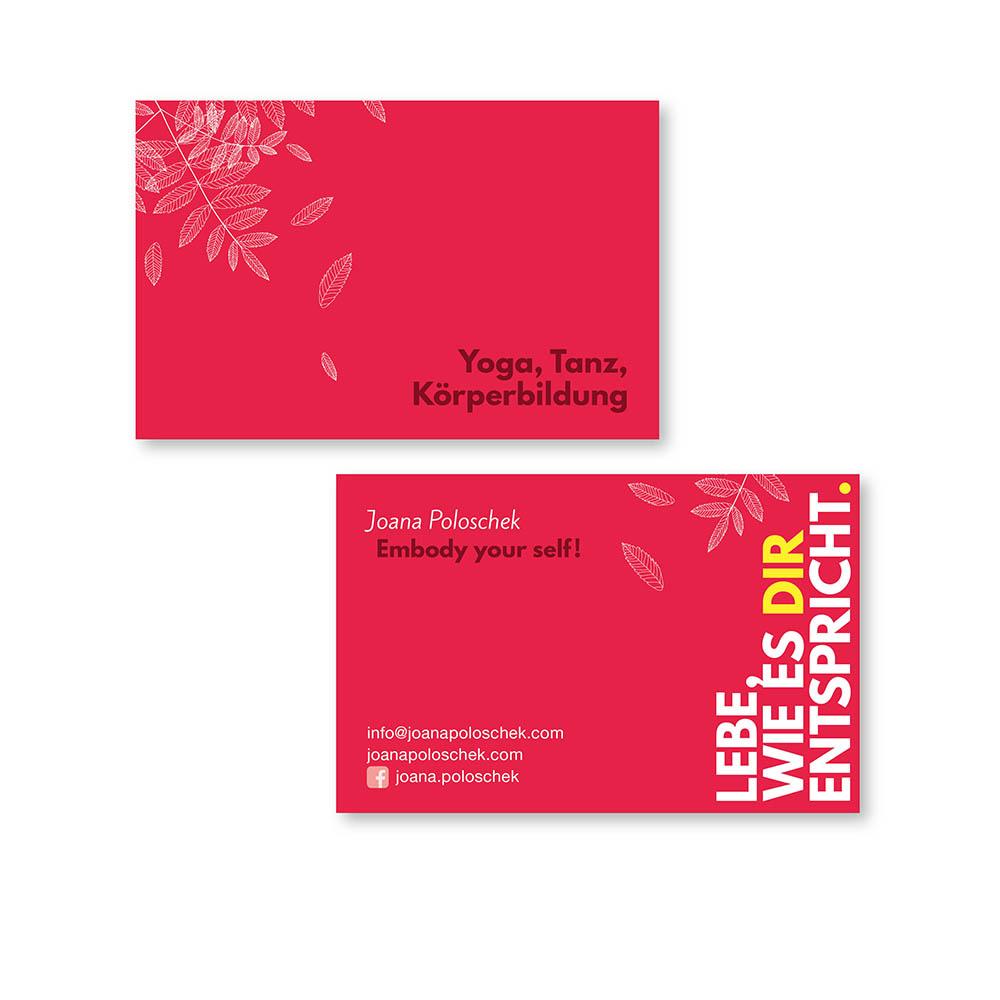 Joana Poloschek Visitenkarten