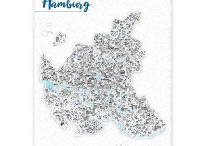 Rapü Design Hamburg Poster Stadtkarte Auflage3 70x100cm Titel