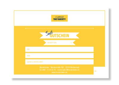 Corona Soli Gutschein für Einzelhändler, Gastronomie, Location