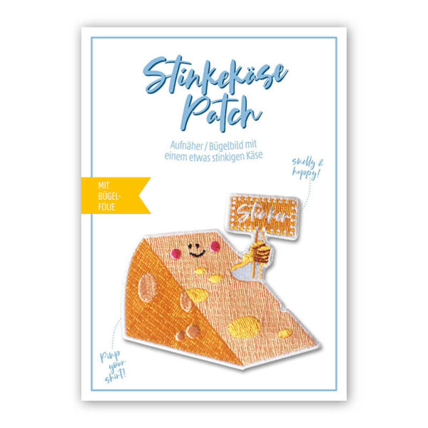 Rapü Design Käse Patch Käse Bügelbild Käse Aufnäher Stinkekäse