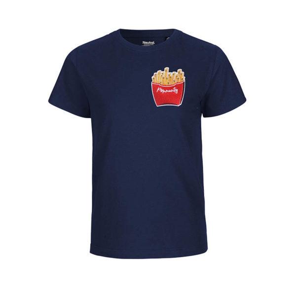 Rapü Design Rapüchen kindershirt tshirt navy-blau Pommunity pommes Patch Front
