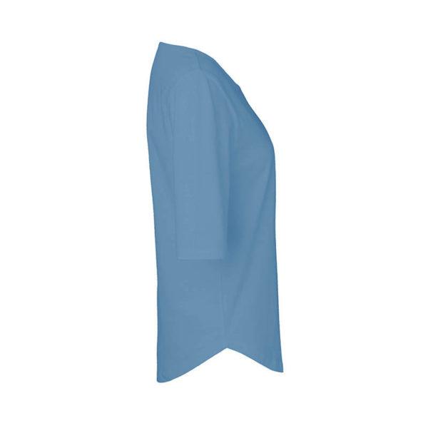Rapü Design ladies-shirt tshirt indigo-blau Pommunity pommes Patch Seite