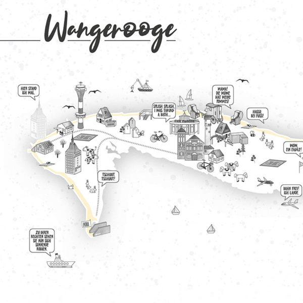 Rapü Design Wangerooge Karte Wangeroogeposter 42x30cm