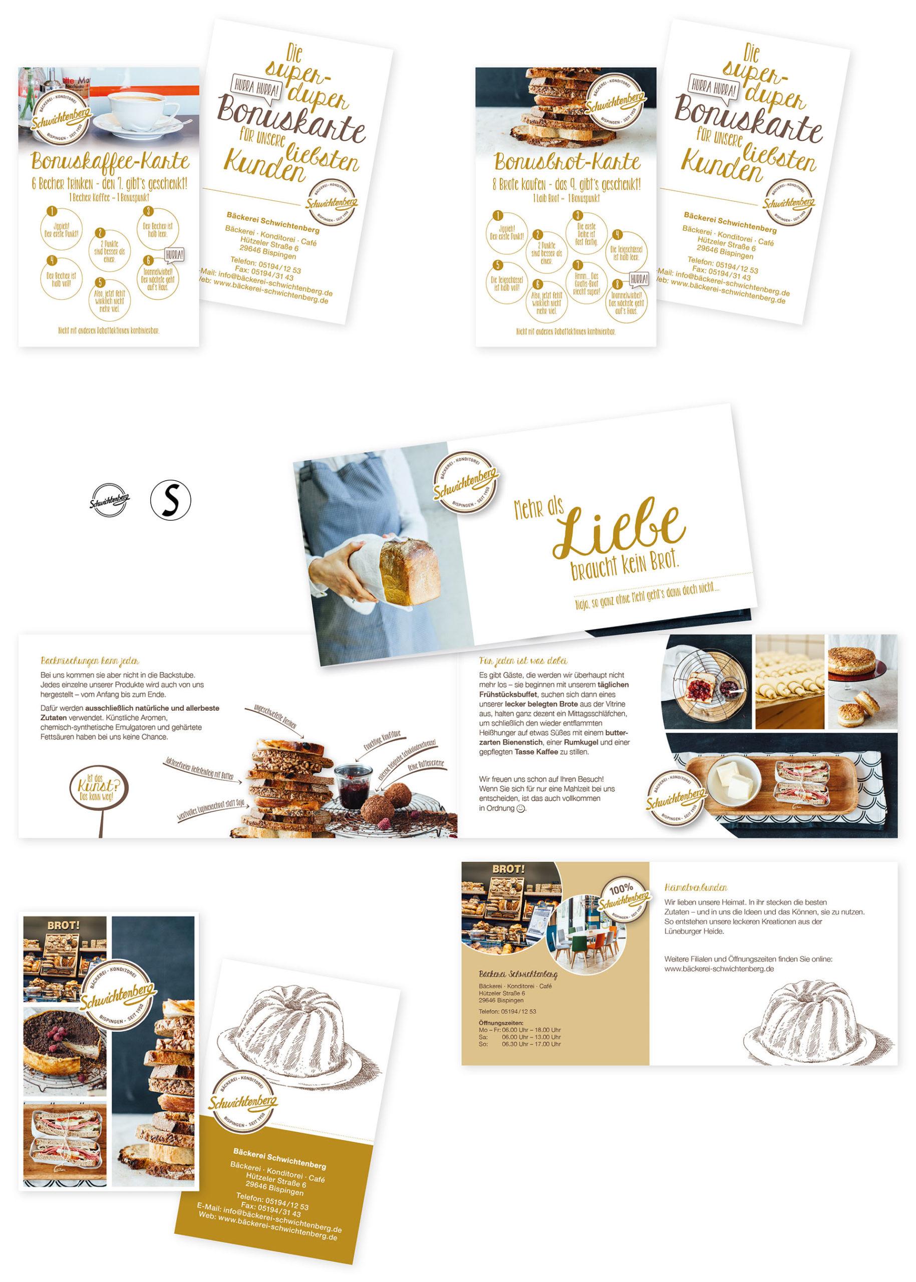 Bäckerei Schwichtenberg Martina Olonschek Corporate Design Collage