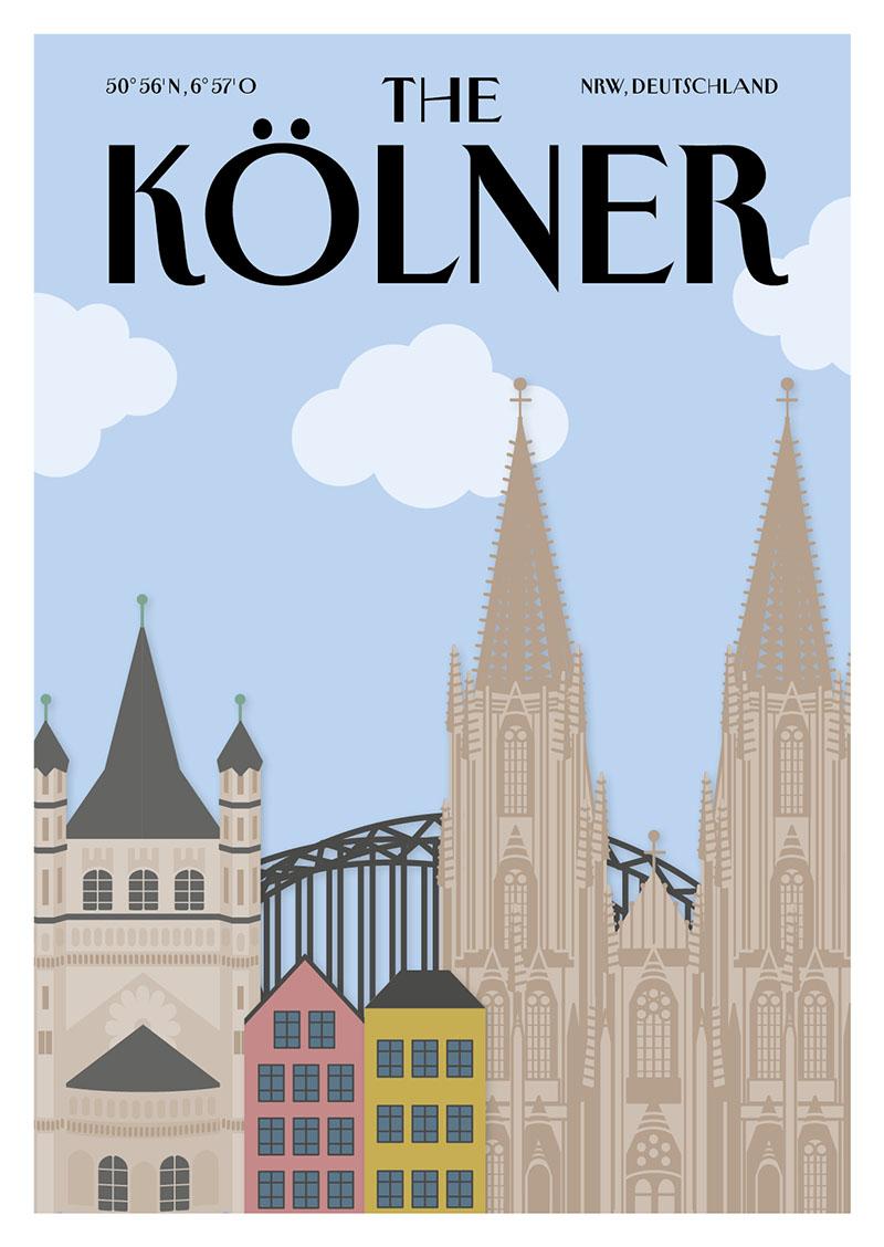 City Products Martina Olonschek Postkarten Illustration The Kölner A6