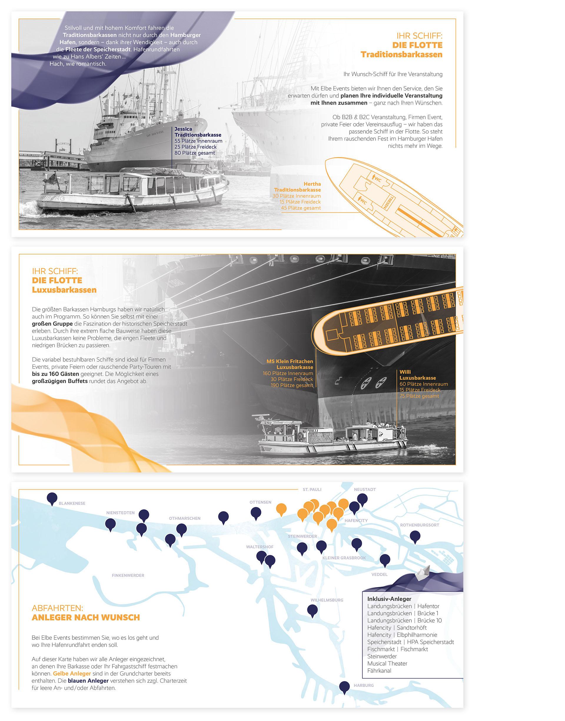 Elbe Events Imagebroschüre Martina Olonschek Corporate Design Collage