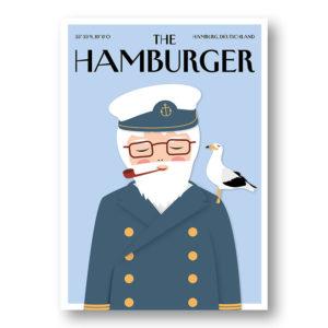 CityProducts Stadt Postkarte Hamburg The Hamburger Seemann