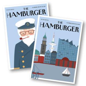 CityProducts Stadt Postkarte Hamburg The Hamburger Skyline Seemann Set