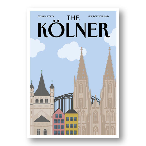 CityProducts Stadt Postkarte Köln The Kölner Skyline