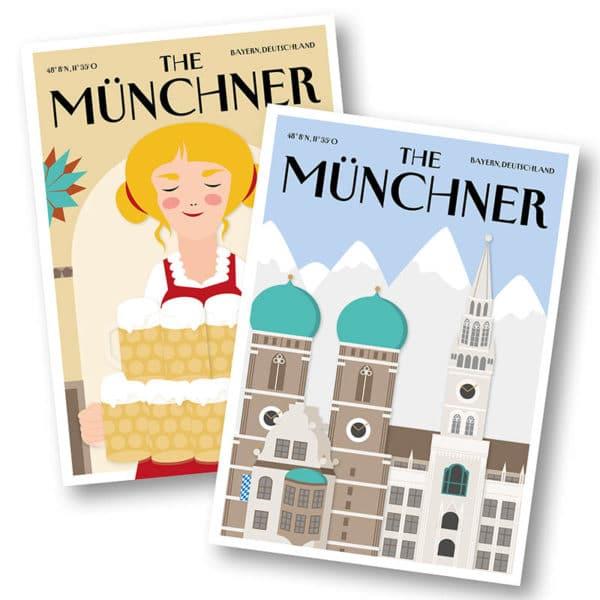 CityProducts Stadt Postkarte München The Münchner Hofbräuhaus