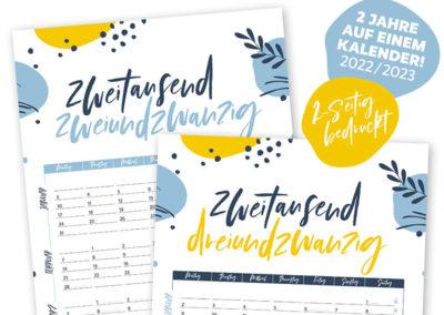 Martina Olonschek 2-jahres kalender 2022 2023 Wendekalender Jahresplaner Wandkalender 2022 2023